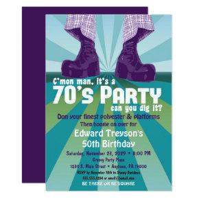 70s Party Invitations 1970s Disco Birthday