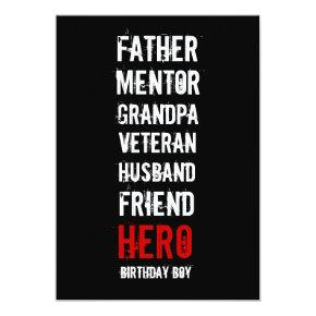 70th Birthday Hero Party Invitation