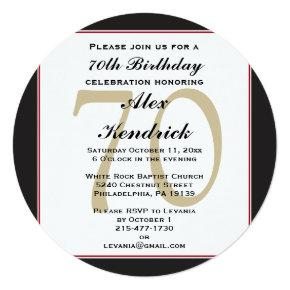 70th Birthday Invitation
