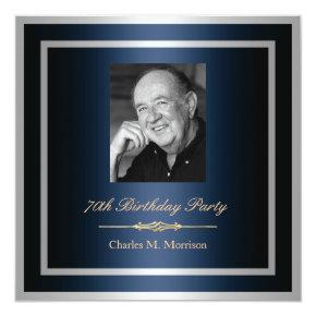 70th Birthday Invitations - Photo
