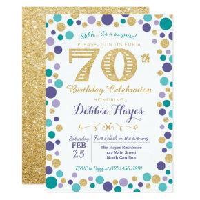 70th Surprise Birthday Party Invitations