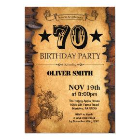 70th Western Birthday Invitation