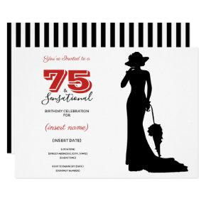 75 & SENSATIONAL 75th Birthday Invitations
