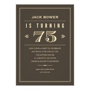 75th Birthday Invitations for Men
