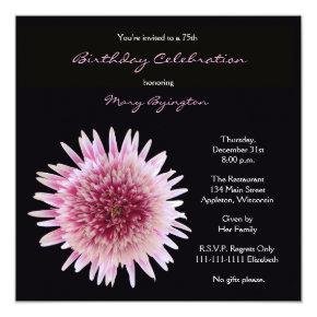 75th Birthday Party Invitation Gorgeous Gerbera
