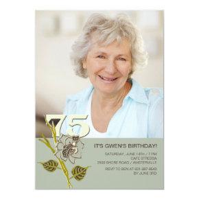 75th Birthday Photo Invitations
