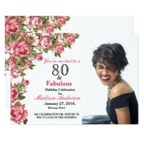 80 and Fabulous Floral | 80th Birthday