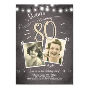 80th Birthday Invitations Vintage Eighty Birthday