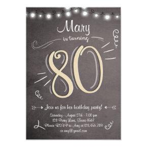 80th Surprise Party Birthday Invitations Candied Clouds