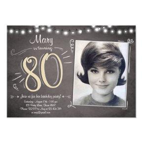 80th Birthday Invitation Vintage Eighty Birthday
