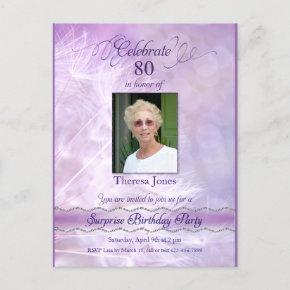 80th Birthday Party Invitation PostInvitations