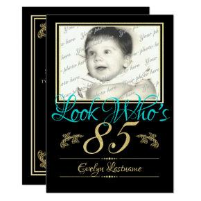 85th Birthday Photo Invitations