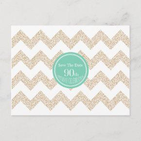 90th Birthday Party Save the Date Choose Color Announcement Postcard