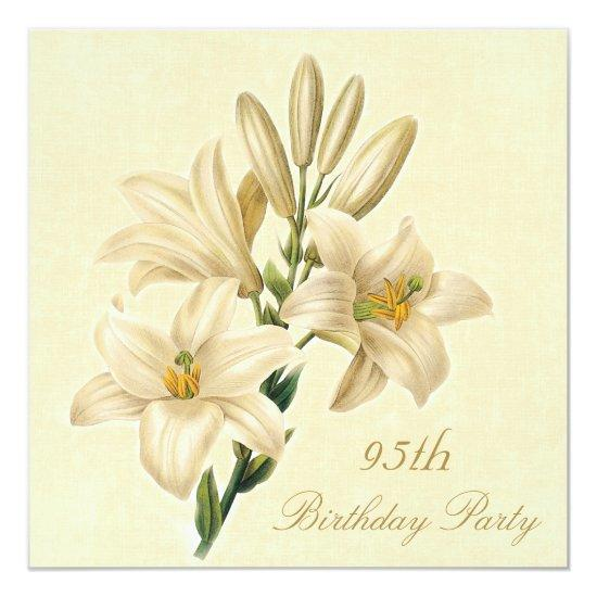 95th Birthday Party Chic Vintage Lily Flowers