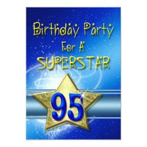95th Birthday Party Invitations For A Superstar