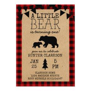 A Little Bear Birthday Invitation