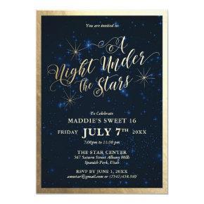 A Night Under the Stars Sweet Sixteen Invitation