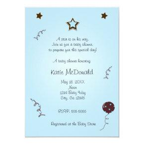 A star is born baby shower or birthday Invitations