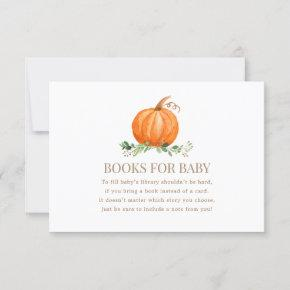 A Sweet Little Pumpkin Books for Baby Invitation
