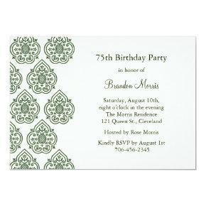 A Vintage Damask Birthday Invitation
