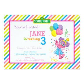 Abby Striped Birthday Invitation