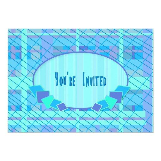 abstract blue green aqua you re invited card candied clouds