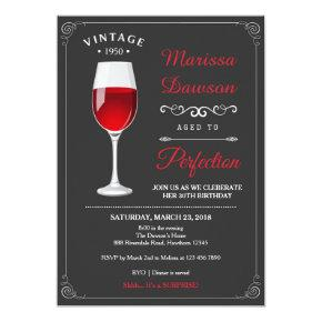 Adult Birthday Invitations / Wine Invitations