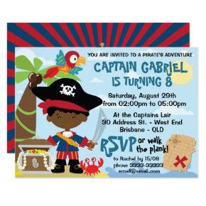 African American Boy Pirate Party