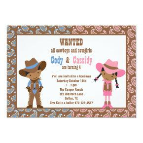 African American Cowboy and Cowgirl Invitations