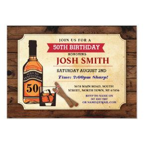 Aged to Perfection Birthday Whisky Cigars Invite