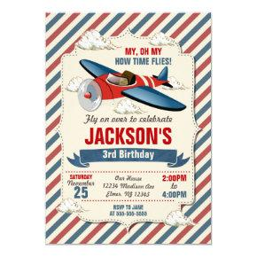 Airplane Birthday Invitation / Time Flies Party