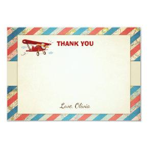 Airplane Thank You card Vintage Plane Shower