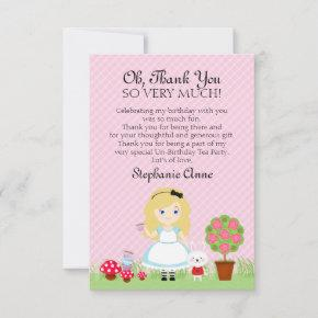 Alice and Her Tea Party Invitation