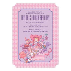 Alice in Wonderland | Birthday Invitation