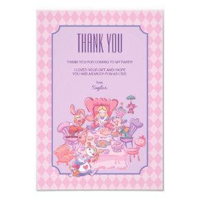 Alice in Wonderland   Birthday - Thank You Card