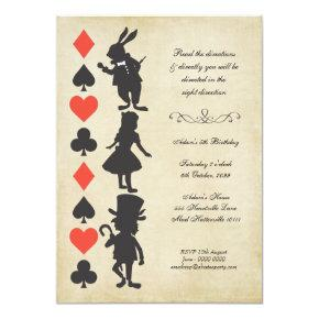 Alice in Wonderland Invitations Tea Party Birthday