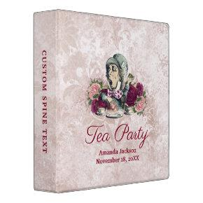 Alice in Wonderland Hatter Tea Party Photo Album 3 Ring Binder
