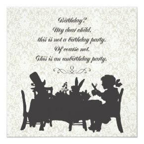Alice in Wonderland Mad Hatter Tea Party Birthday Card