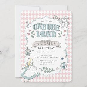 Alice in Wonderland | Onederland First Birthday Invitation