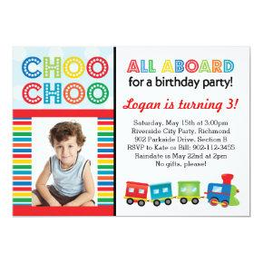 All Aboard Choo Choo Train Invitations