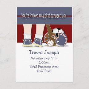 All Sports Birthday Invitation Template