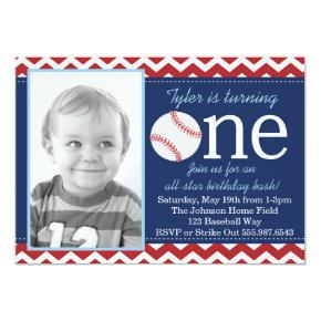 All-Star Baseball Birthday Bash Invitation