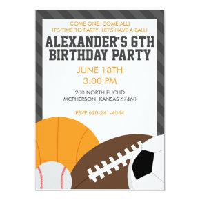 All Star Birthday Party Invitations