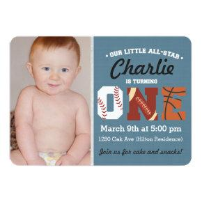 All-Star First Birthday Invitations