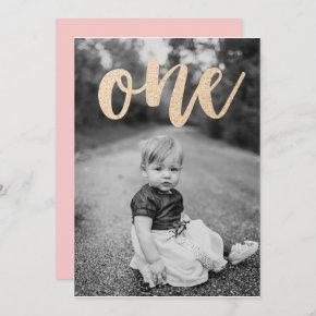 All That Glitters First Birthday Party Invitation