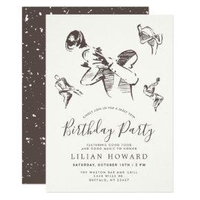 All That Jazz-Themed Birthday Party Mahogany Invitation