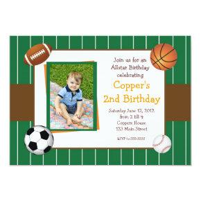 Allstar Sports Birthday Invitations