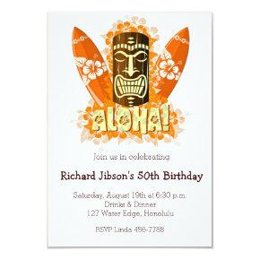 Aloha Luau Tiki Mask Summer Party