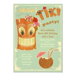 Aloha Tiki Party Invitations