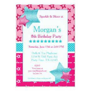 American Birthday Girl Invitation